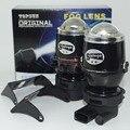 1 pair H3 LED Car fog luz do projetor 35 W de Alta Potência Faróis de Nevoeiro Lentes Do Projetor 12 V carro projetor