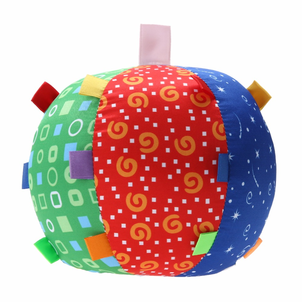Soft Cloth Ball Bell Baby Hand Grasp Training Toy Ball Fun Colorful Kids Playing Ringing Ball