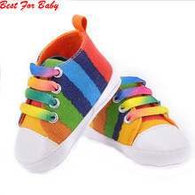 Newborn Baby Boys Girls Soft Sole Crib Infant First Walker Toddler Casual Shoes Sneaker 0-18M