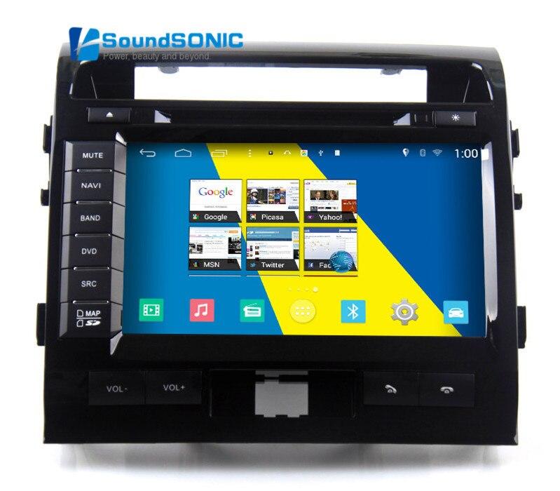 Для Toyota Landcruiser LAND CRUISER 200 LC200 2008 2009 2010 2011 2012 2013 Android 4.4.4 Стерео DVD GPS аудио видео плеер