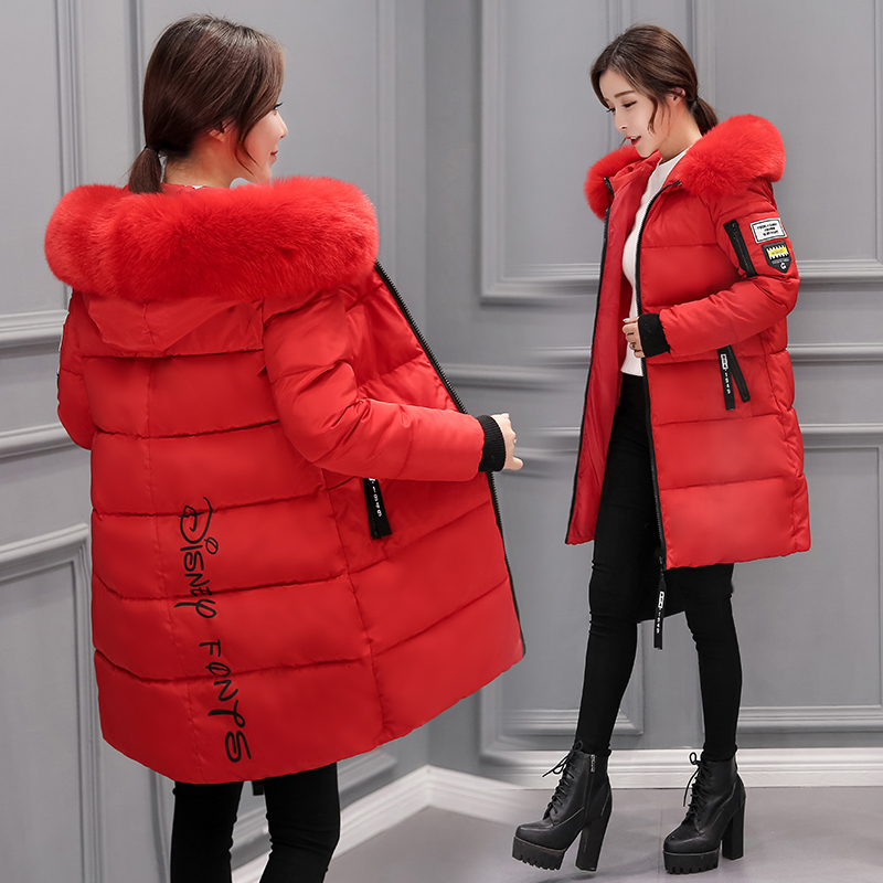 2018 New Winter Jacket Female Parka   Coat   Feminina Long   Down   Jacket Plus Size Long Hooded Duck   Down     Coat   Jacket Women LJ0623