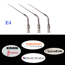 цены 5 pcs/lot Dental Scaler Endo Tip E4 for EMS/ WOODPECKER/ SYBRON-ENDO Dentist Lab Device Teeth Whitening