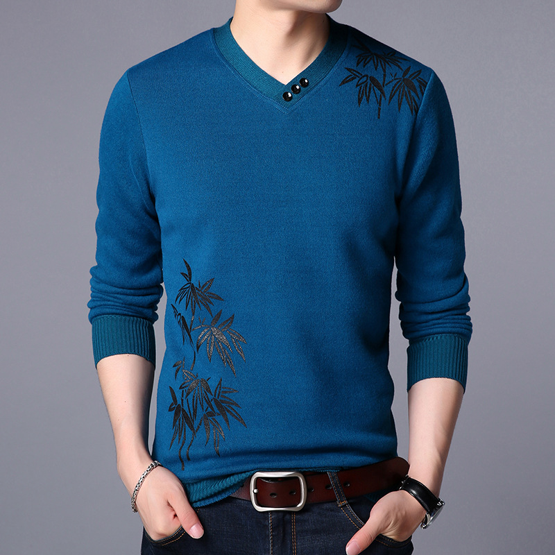 New Winter Warm Cashmere font b Sweater b font Man New Year s Casual Wear Fashion