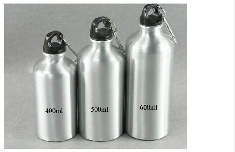 Promocional Logotipo Impresso 400 ml Prata Revestido Sublimação Em Branco de Aço Inoxidável Garrafa de Água Esportes Baratos Garrafas De Viagens 20 pcs