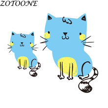 ZOTOONE Tactical Cute Animal Cat Applique Iron on Patches for Child Baby Clothing Bag Custom Heart Transfers Patch Clothes Dress