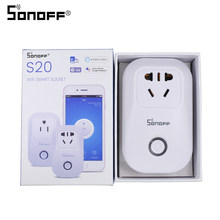 Sonoff S20 Smart Wifi Plug Socket Outlet AU 220V Power Wireless Remote Control Light Switch Timer Alexa Google Home Compatible(China)
