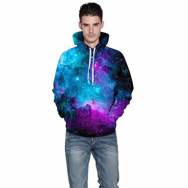 Space Galaxy Starry Sky Print 3D Hoodie 2