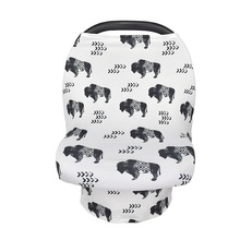 Nursing Cover Baby Breastfeeding Cover Multi-use Infant Stoller Cover Car Seat Canopy Shopping Cart Cover Feeding Cloths