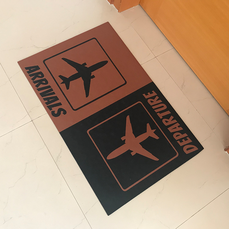Custom Made Doormat Entrance Floor Mat Arrivals Departure