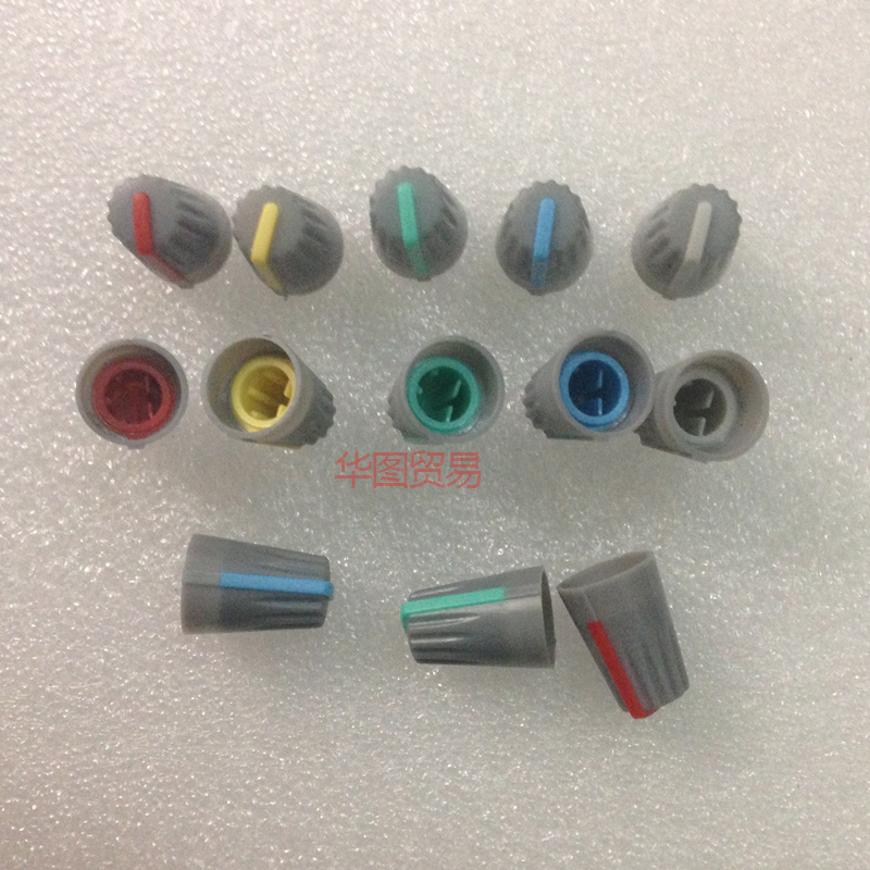 10pcs Soundcraft Mixer Effect Knob Cap / D Hole Half Axle 270 Degrees Light Gray Dj Knob Red Yellow Blue Green White Sufficient Supply