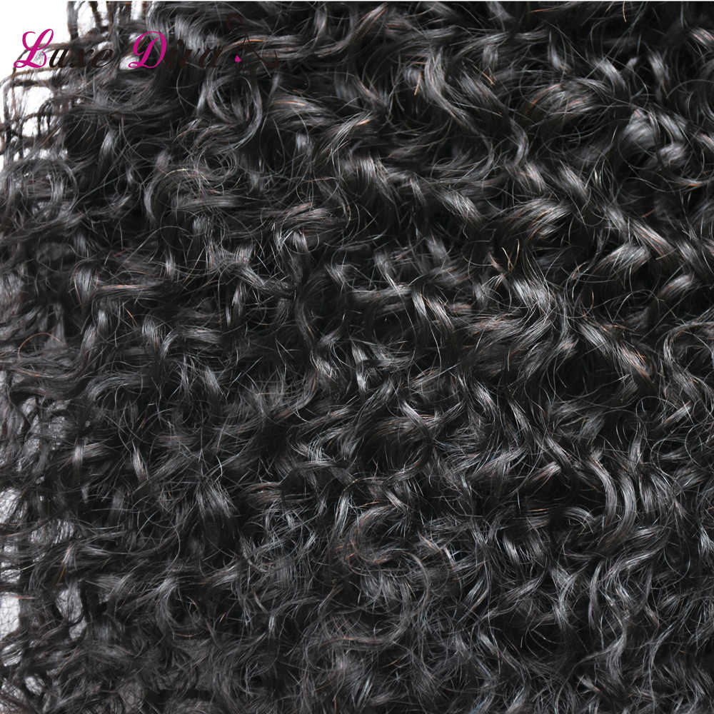 L D 100% pelo humano Cola de Caballo productos Afro rizado Cola de Caballo para mujeres Natural negro Remy Clip de pelo en cola de caballo cordón
