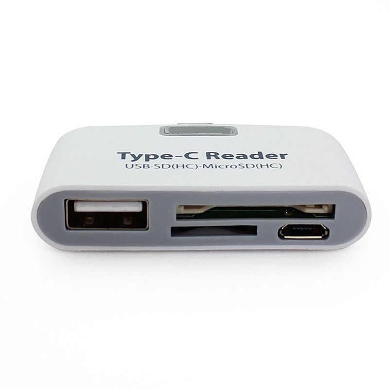 3 في 1 USB 3.1 نوع C لماك بوك هاتف لوحي USB-C TF SD مايكرو OTG قارئ بطاقات متعددة الوظائف بطاقة الذاكرة محول