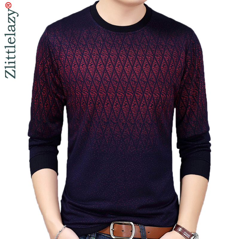 2019 Brand New Hot Casual Social Argyle Pullover Men Sweater Shirt Jersey Clothing Pull Sweaters Mens Fashion Male Knitwear 151(China)