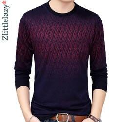2019 новый бренд лидер продаж, повседневная одежда социальных пуловер Argyle мужчин свитер джерси одежда пуловеры Мужская мода мужской