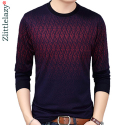 New Casual Social Argyle Pullover Men Sweater Shirt Jersey Clothing Pull Sweaters Mens Fashion Male Knitwear 151