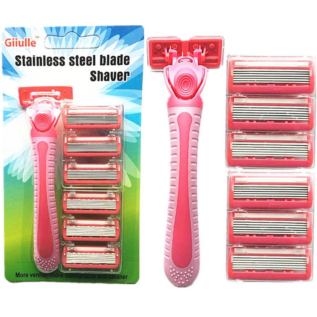 TOP  Men's And Women's Razor Stainless Steel Double Body Razor Home User Hairdresser Face Razor Leg Beard