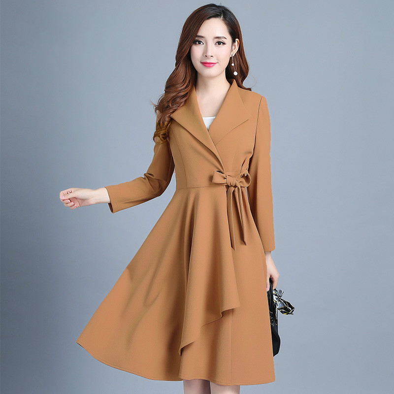 Survêtement caramel Pour Élégant Zt1972 Office Vêtements Vogue Long Printemps Coupe black Manteau 2019 coat Femmes vent Lady Tuhuangse Coréenne Trench De SRS8fnwa
