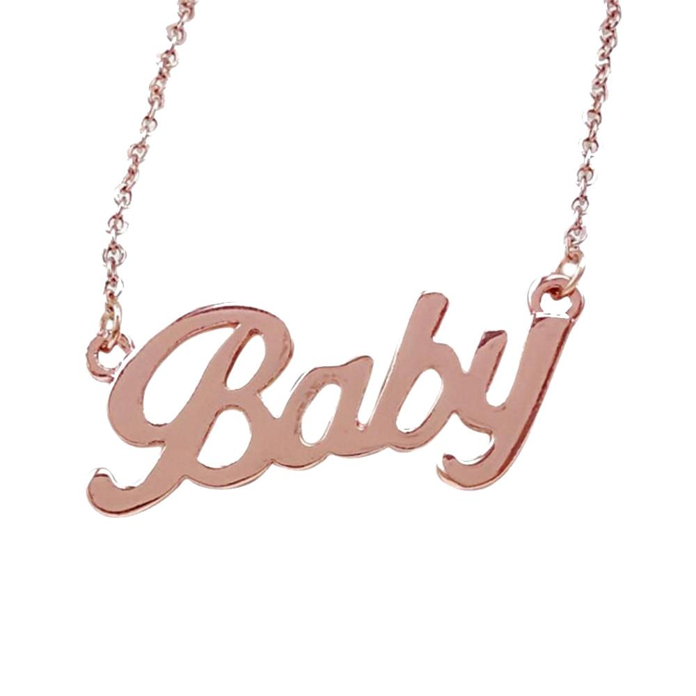 2019 Popular letra bebé colgantes collar mujer cadena larga aleación moda colgante collar regalo joyería spdc15b63
