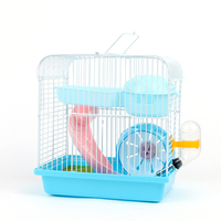Deluxe Villa hamster cage Bed For Hamster House Double plastic Pet Cages For Guinea Pigs Hamster In A House Toys small pet Cage