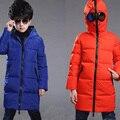 2016 Novo Inverno Meninos Altman Jaquetas Legais Óculos Parka Quente Casaco de Pato Para Baixo Casacos Meninos Meninas Outerwear Roupa Dos Miúdos