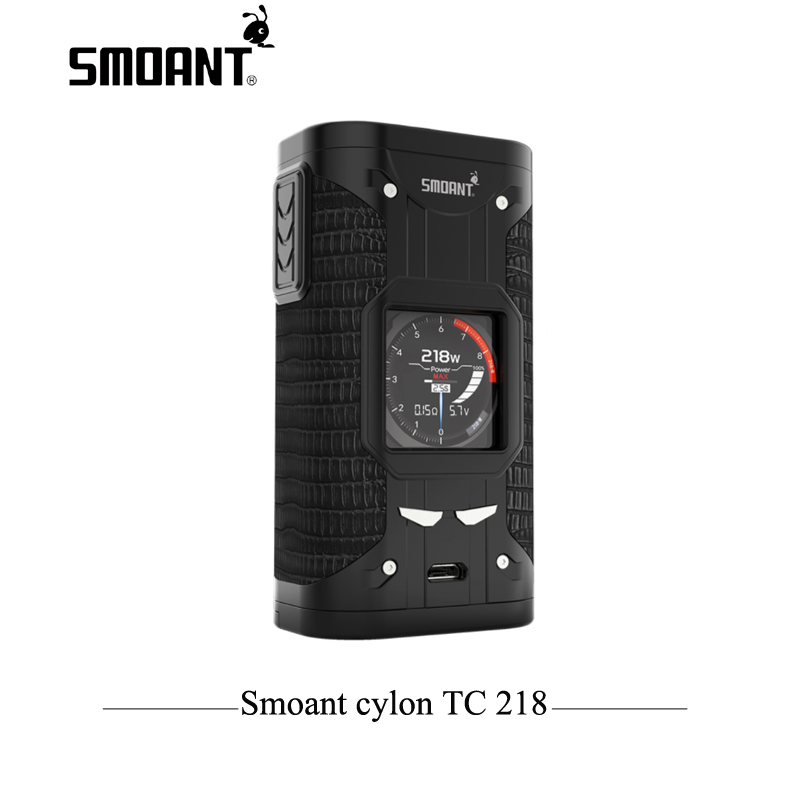 Original Electronic Cigarette TC Mod Smoant cylon TC 218w Box Mod 218 E Cigarette mod with 1.3 inch screen Vaporizer Vaper electronic cigarette kits smoant charon tc 218 rdta kit vaporizer vape box mod e cigarette hookah with battlestar rdta x2077