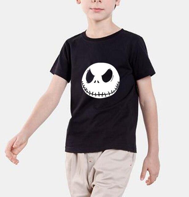 Nueva moda 2018 verano niños camiseta pesadilla antes de Navidad Jack  Skellington Marca Ropa niños streetwear 36b518c087e3a