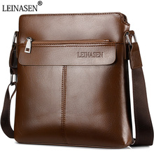 купить High Quality Men Messenger Bag Vintage Soft Leather Man Shoulder Bag Male Crossbody Bag Travel Business Handbags Brand Design по цене 843.45 рублей