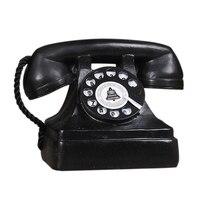 뜨거운 판매 복고풍 수지 공예 장식품 사진 레트로 소품 더러운 이전 유선 전화 홈 오피스