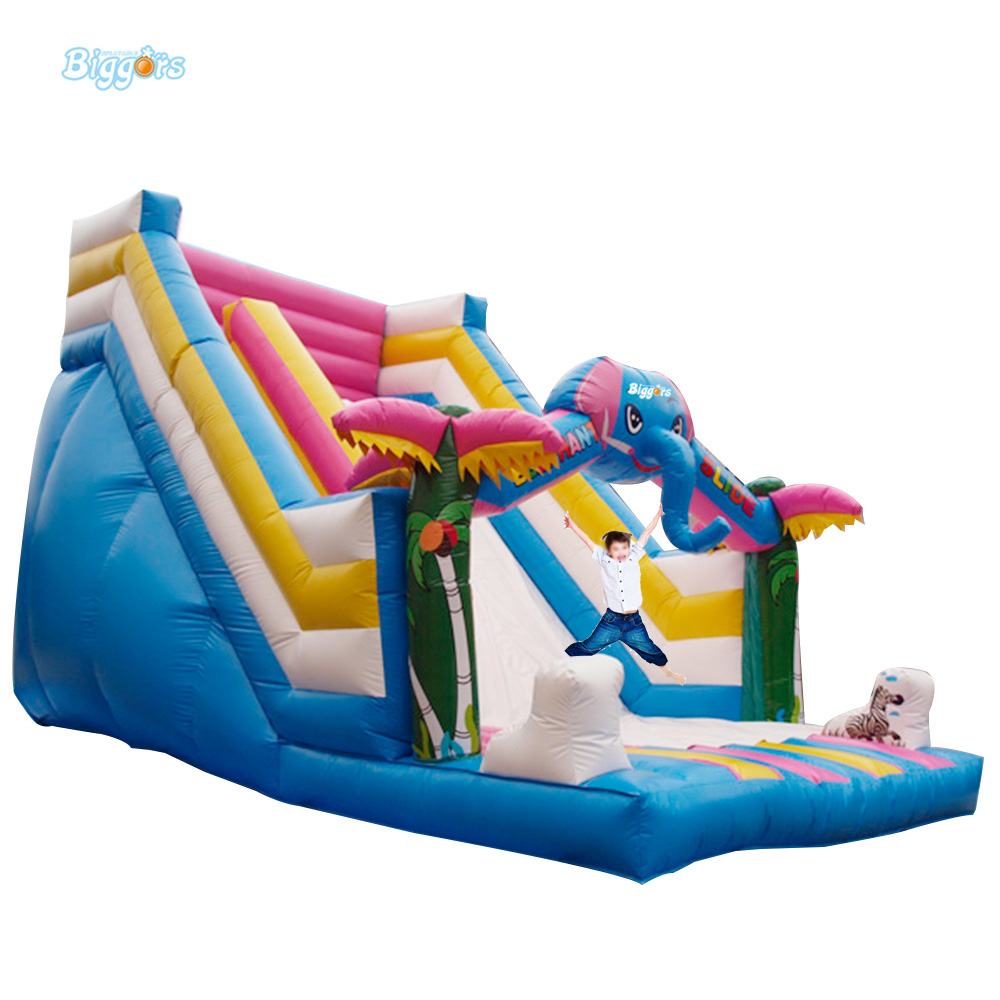 Inflatable Water Slide With Price: Tropical Elephant Theme Giant Inflatable Water Slide