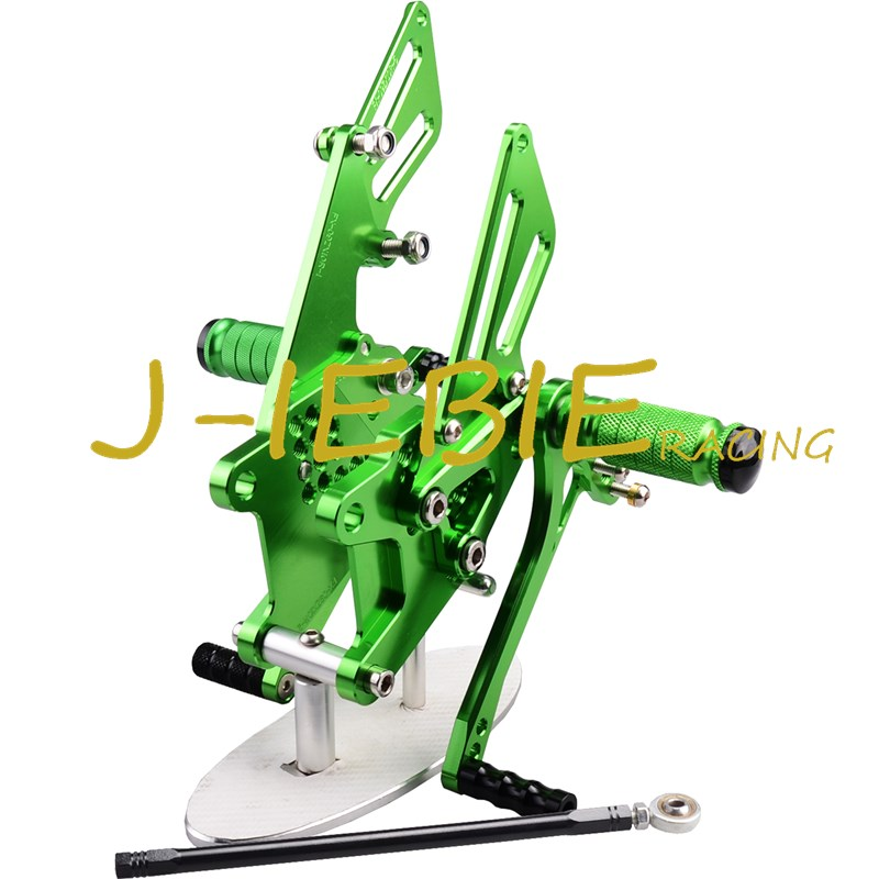 CNC Racing Rearset Adjustable Rear Sets Foot pegs Fit For Kawasaki NINJA ZX10R 2006 2007 2008 2009 2010 GREEN morais r the hundred foot journey