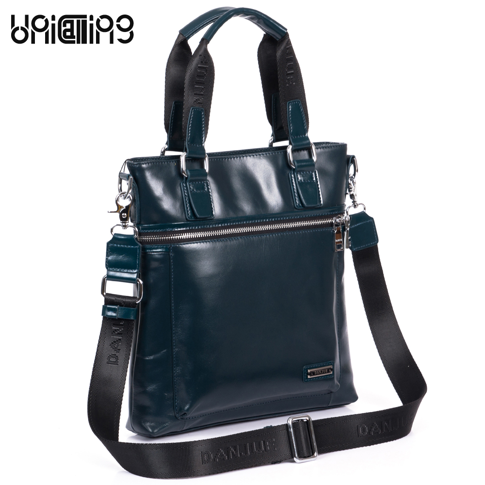 Fashion brand men genuine leather bag vertical men leather shoulder handbag business men bag crossbody messenger bag cow leather