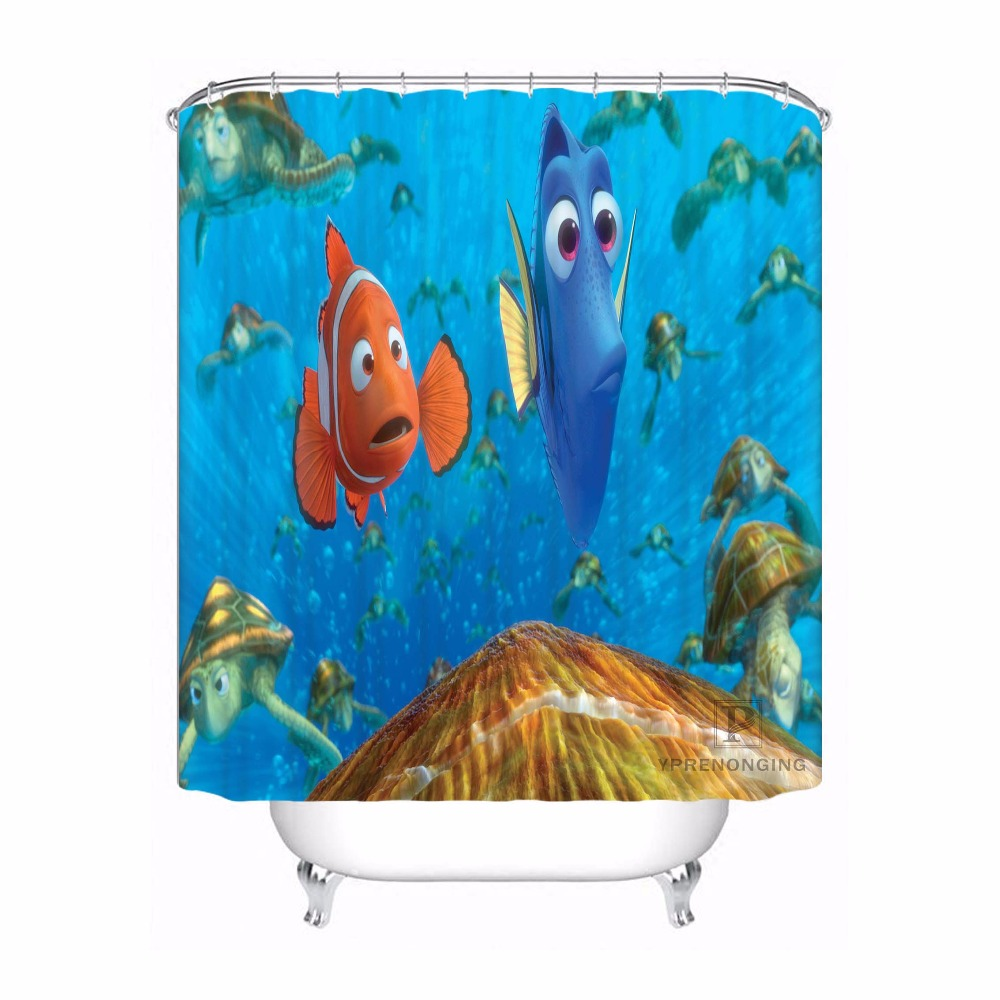Nemo Bathroom Set Us 19 33 49 Off Custom Waterproof Shower Curtain Finding Nemo Printed Bathroom Decor Various Sizes 180324 01 06 In Shower Curtains From Home