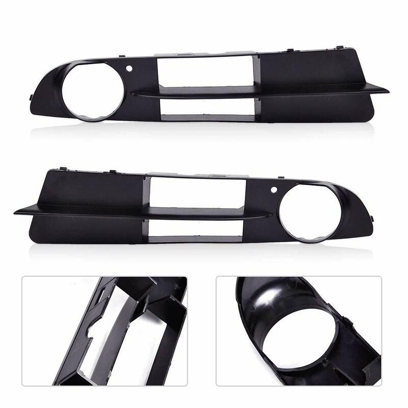 Plastics Black Parts Kit Fog Lamp Frames For BMW E60 525i/530i E61 545i 550i 2pcs Exterior Grilles Accessories