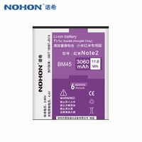 100 Original NOHON 3060mAh BM45 Li Ion Battery For Xiaomi RedMi Hongmi Note2 Red Rice Note