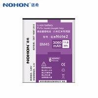 100 Original NOHON 3060mAh BM45 Li Ion Battery For Xiaomi RedMi Hongmi Note2 Red Rice Note
