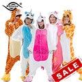 YM Cartoon Lovers Unicorn Unisex Flannel Hooded Pajamas Adults Cosplay Cute Animal Onesies Sleepwear Hoodies For Women/Men PJ04