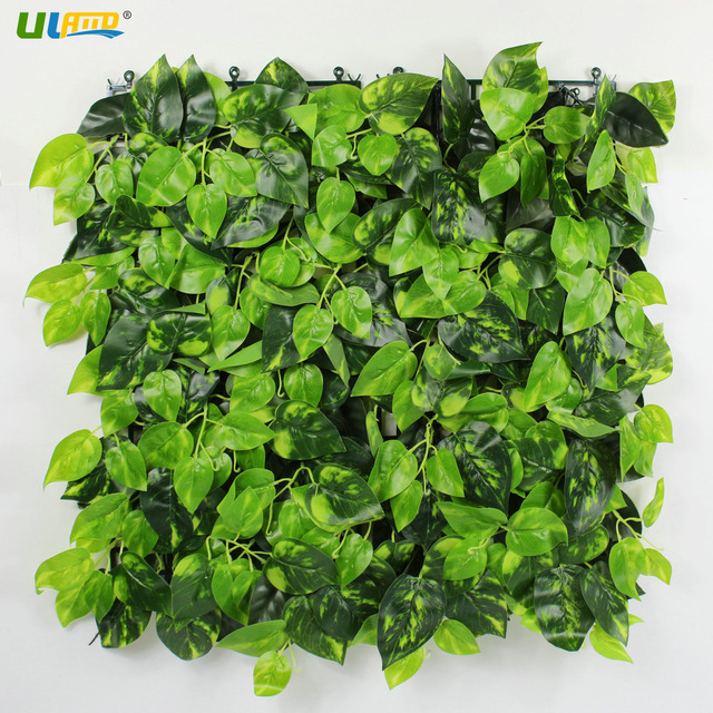 ULAND Artificial Boxwood Hedge Faux Ivy Leaves Plants Fence Panels ...