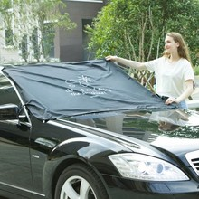 Cartoon Car Front Windshield Sunshades Auto Sun Shade Exterior Half Cover Solar Protection Car-Styling Automobiles Accessories