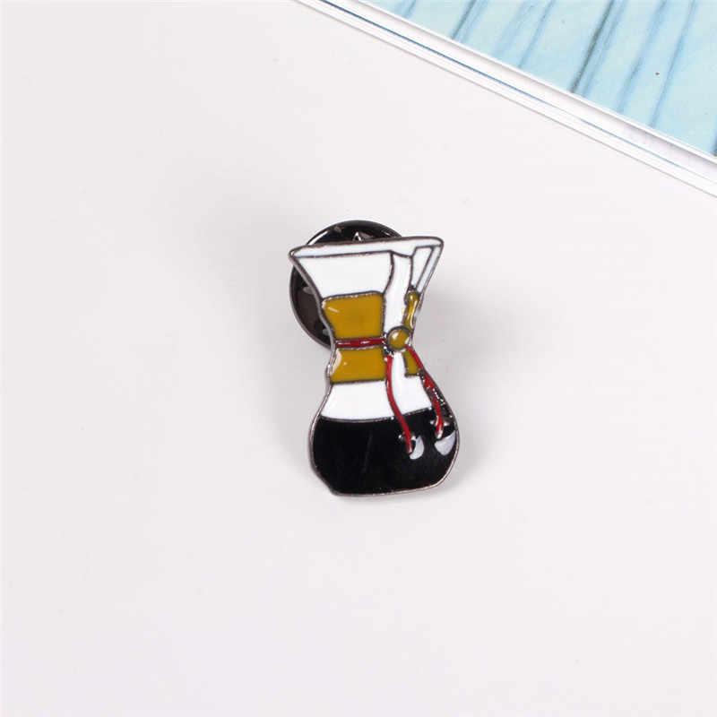 XQ Miễn Phí Vận Chuyển nồi Cà Phê của cốc cà phê brooch pin sao mua sắm trực tuyến vàng pin thời trang trâm lên tuck foot