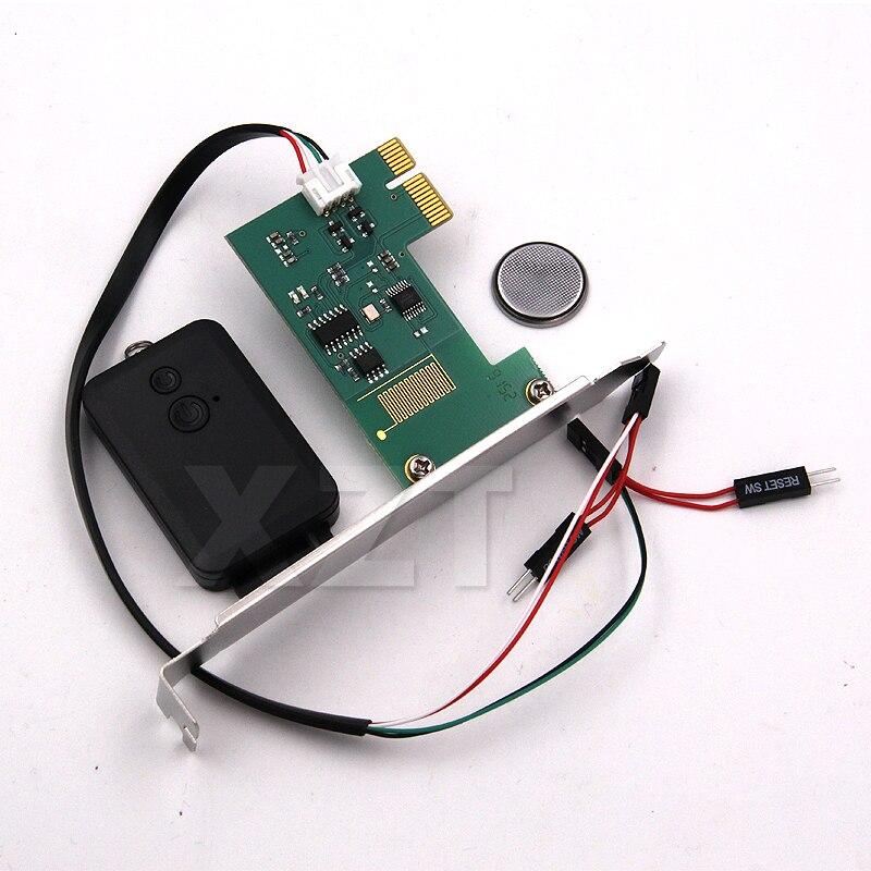 Новейший мини-пульт дистанционного управления PCI-e для настольного ПК, беспроводной переключатель перезапуска на 20 м, включение/выключение ...