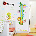 1pcs Sozzy Children Height Chart Measure Wall Decoration Cartoon Animal  Rattles Park Kids Baby Room Decoration