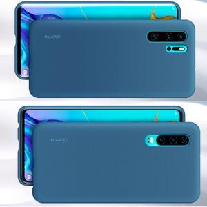 Image 4 - Original Huawei P30 P30 Pro กรณี HUAWEI อย่างเป็นทางการ Liquid ซิลิโคนป้องกันไมโครไฟเบอร์ด้านใน Huawei P 30 P 30Pro กรณี