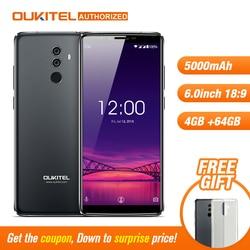 OUKITEL K8 4G 64G Android8.0 Mobilephone Octa-core 5000mAh 6'' 18:9 Display Dual Rear Camera Face ID Fingerprint Smart Cellphone