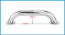 200mm Marine Grade 316 Stainless Steel Grab Handle Door Handrail Grip Rail Grab Bar Handle Boat Hatch Yacht Marine Bathroom