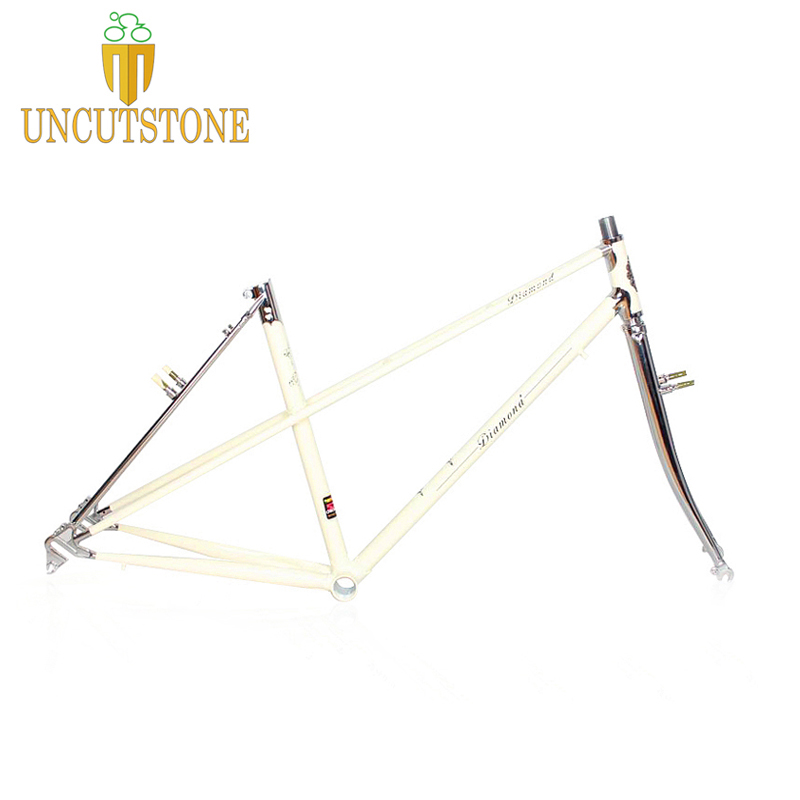 Lady Road Bicycle Frame 4130 Chrome Molybdenum Touring Bike  Frame  49 Cm 51cm Road Bike Frame Customized Color