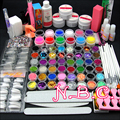 New COSCELIA UV Gel Shine Glitter Nail Set Nail Art Balls+12 Color Pure UV Gel Primer Base Gel Top Coat Nail DIY Tools Kits