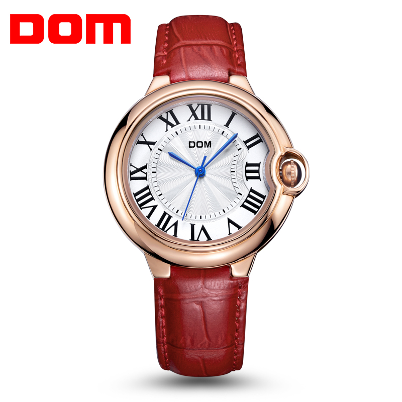 2016 DOM Fashion Watch Women Top Brand Luxury Quartz Watches Women Dress relogio feminino Waterproof Ladies Gold Wristwatch