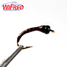 Wifreo 100pcs Assorted Epoxy Nymph Flies Midge Hegene Trout White Fish Fishing Bait Artificial Lures Size 12 14 16 18