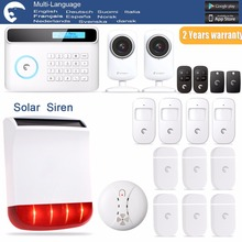 Etiger S4 Solar Outdoor Siren eTIGER GSM/PSTN Burglar Alarm System For Home/Office 2x WiFi Network Camera