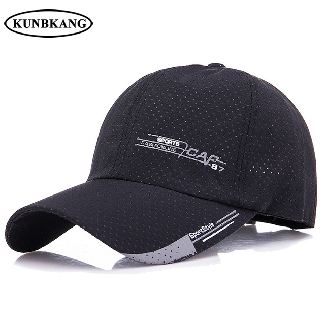 17c51278137 2018 New Summer Baseball Cap Men Quick Dry Golf Sun Dad Hat Sports Mesh  Snapback Hats